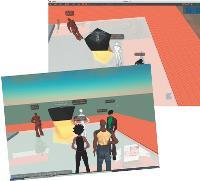 Lancôme a installé sur Second Life des bornes diffusant Hypnôse.
