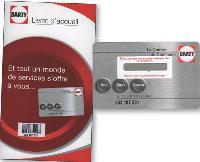 La nouvelle carte client Darty donne accès à divers services, tels que la garantie électronique ou la consultation des notices en ligne.