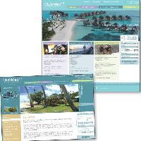Home Page: la nouvelle version du site fait la part belle aux photos grand format. Visites virtuelles: via ces visites, l'internaute peut explorer le village avant de faire son choix.