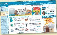 Afin d'inciter le client à consulter son site, Raja présente une sélection de ses produits.