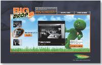 Un univers «commercial» décalé dès la page d'accueil du site dédié.