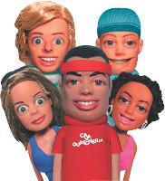 Les cinq personnages, Johnny Mobile (au centre), Crystal (en bas à gauche), Sunny (en haut à gauche), Paco (en haut à droite) et Mia (en bas à droite) ont été conçus spécialement pour SFR.