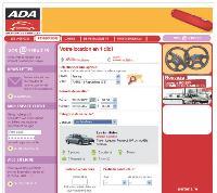La dernière version du site ada.fr a été conçue puor réduire au maximum le parcours de réservation de l'internaute