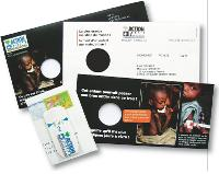 Pour sensibiliser les prospects à la famine dans le monde, Action contre la faim a choisi d'humaniser sa cause» en montrant des photos d'enfants souffrant de malnutrition.