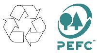 Pour certifier les papiers «verts», des logos ont fait leur apparition: le premier indique que le papier est recyclé, le second qu'il est issu de forêts gérées durablement.