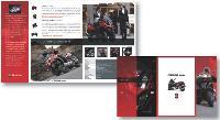 Le mailing réalisé par Fidback pour Piaggio est personnalisé au niveau de chaque concessionnaire. Il présente les promotions offertes par chaque magasin et les visuels peuvent changer en fonction des mises en avant.