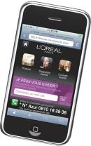 Lance en novembre dernier, le site mobile de L'Or�al Paris est accessible uniquement via l'iPhone