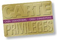 La «carte privilèges» est valable dans tous les magasins Cash Converters ainsi que sur le site web Toutcash.com