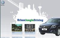 La jungle urbaine... une prise en mains ludique du «Tiguan», via un jeu virtuel.