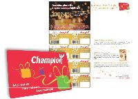 Près de 80% des clients de Champion détiennent aujourd'hui la carte de fidélité. A l'occasion des dernières fêtes de fin d'année, Champion proposait à ses clients de cumuler davantage de points fidélité.