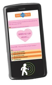 Sur le site mobile du Club Monoprix, conçu par The CRM Mobile Corp, les mobinautes peuvent localiser le magasin le plus proche et télécharger des recettes de cuisine.