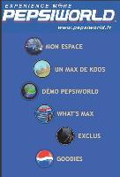 Le site Internet mobile de Pepsi, imaginé par LD Mobile, est adapté au format du téléphone mobile.