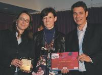 Nathalie Bousseau (Optimus), Nathalie Lefebvre (MDexpo) et Frédéric Fournier (Optimus).