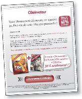En proposant un abonnement papier sur le Web, Le Nouvel Observateur mise sur une stratégie multicanal, aujourd'hui presque inévitable.