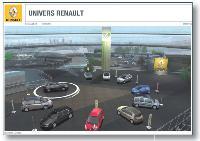 Novacom a réalisé pour Renault un carrousel en trois dimensions qui permet d'accéder à tous les modèles.