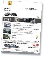 Le mailing de Gueudet a été imprimé en numérique afin de pouvoir le personnaliser, notamment avec une offre de reprise de l'ancien véhicule adaptée au prospect.