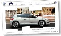 Pour qualifier les profils, Volkswagen a mis en place un jeu concours sur son site dédié.