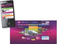 Les sites web et mobile ont été conçus selon une charte graphique identique.