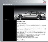 Audi diffuse, chaque mois, aux membres de son club My Audi une newsletter avec des informations d'ordre général ou sur le club de fidélité.