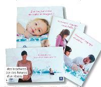 Peugeot a édité des brochures mises à disposition des futures mamans au sein d'un réseau de gynécologues.