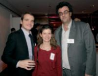 Frank Desvignes, Julie London (BNP Paribas) et Eric Munz (KDP Group).