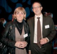 Valérie Gisberti (FMO) et Bruno Manzini (La Poste).