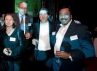 Chantal Patarin (Soft Computing), Didier Farge et Roland André (SNCD) et Jean-Marc Lesage (Numsight).