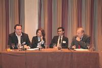 Arnaud Caplier et Fabienne Granovsky (SNCD), Stéphane Hugon (CeaQ) et François Rouffiac (Editialis), s'exprimant sur le ciblage comportemental.