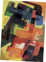 L'art abstrait est l'une de ses passions. Ici, la toile