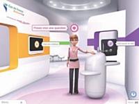 Zoé, la conseillère virtuelle de Gaz de France, anime un spot webTV.
