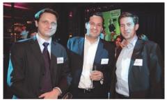 Etienne Lepoutre (PricewaterhouseCoopers). Grégoire Cléry (Editialis), et Amaury Jallot (Accor Services).