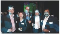 Chantal Patarin (soft Computing), Didier Farget et Roland André (SNCO) et Jean-Marc Lesage (Numsight).