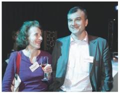Marie-Pierre Lamotte (Les Echos) et Guy Besly (Uniservices Informatique).