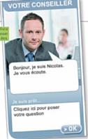 Nicolas, l'agent virtuel du spécialiste du crédit Finaref, peut proposer des offres personnalisées.