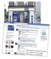Pour séduire les plus jeunes, LCL dispose d'une page' officielle sur Facebook.