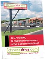 L'internaute passe commande sur le site Chronodrive.com, puis va chercher ses courses en magasin, moins de deux heures après et sans rendez-vous.