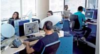 Plateau du site de Rabat. Webhelp a commencé à se déployer au Maroc il y a une dizaine d'années.