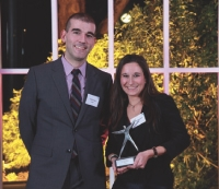 Patrick Russo (LaSer) a remis le 2e prix à Véronique Georget (Krys).
