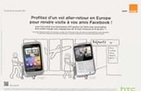 arque de smartphones HTC s'est associée à l'opérateur Orang