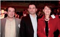 Roland André (SNCD), Eric Trousset (Mediapost publicité), Céline Baumann. (La Poste).