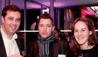 Philippe Bourriot (Mediapost), Arnaud Dubin et Sophie Dobel (Mediapost).