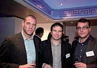 Cyril Haroçarene, Pierrick Briand et Julien Forget (Rhinos).