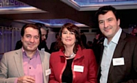 Céline Baumann (La Poste Courrier), Bernard Plé et Roland André (Mediapost).