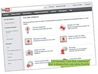 Le nouveau «coin des créateurs» met à disposition une série d'outils pour modifier, optimiser, mettre en ligne ses vidéos...