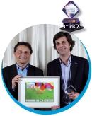 Roger Lei (LaSer) a remis le trophée à Olivier Tarneaud, (Aéroports de Paris).