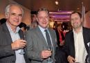 Jean-Michel Moulié (Vertical-Mail), Thomas Schult (DOTSS) et Stéphane Barthélémy (Adress Company).