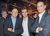 Roger Lei, LaSer, Stéphane Fauchet, Marketing Direct, et Hervé Lenglart, p-dg d'Editialis, groupe éditeur de Marketing Direct.