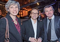 Agnès Ogier, directrice marketing de SNCF Voyages, Alain Holtz, Marketing Direct, et Bruno Lenglart, Sport 2000.