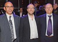 Abdel Lahbabi et Fattah Arrom, EMS, autour d'Edmond Espanel, Marketing Direct.