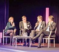 Dominique Fèvre, Marketing Direct, Nicolas Le Herissier, directeur marketing et communication de Houra.fr, Olivier Tarneaud, directeur marketing d'ADP et Roger Lei, LaSer.